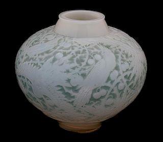 Rene Lalique, (French, 1860-1945), Aras Vase, ca. 1924