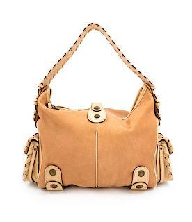 """A Chloe Tan Leather Silverado Shoulder Bag, 10"""" H x 15"""" W x 7.25"""" D; Strap drop: 9.5""""."""