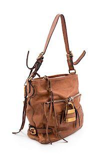 "A Chloe Brown Paddington Shoulder Bag, 11.75"" H x 11.75"" W x 5.25"" D; Strap drop: 11.5""."