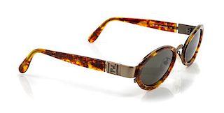 A Pair of Fendi Tortoiseshell Sunglasses,