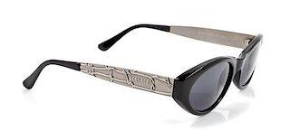 A Pair of Versace Black Sunglasses,