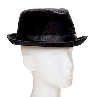 An Hermès Black Cashmere Men s Funk Hat ef0ecea58a9a