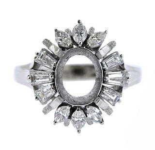 Platinum Diamond Ring Mounting