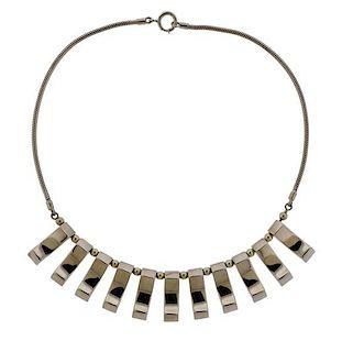 Retro Mossalone 14K Gold Choker Necklace
