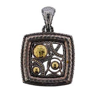 John Hardy Palu Bulan 22K Gold Silver Pendant