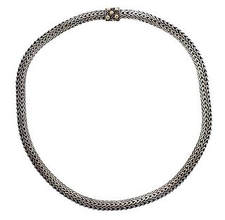 John Hardy 18K Gold Silver Chain Necklace