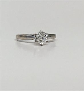 .53 DIAMOND SOLITAIRE SET IN 14KT WHITE GOLD
