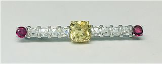 3.73 CARAT BRILLIANT CUT FANCY YELLOW DIAMOND