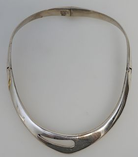 MODERNIST STERLING COLLAR - TAXCO