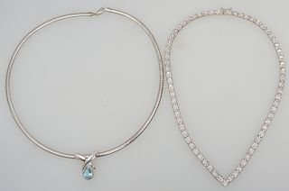 2 STERLING SILVER NECKLACES