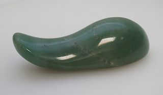 CHINESE JADE CARVED & POLISHED STONE