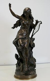 MOREAU, Mathurin. Signed Bronze Sculpture