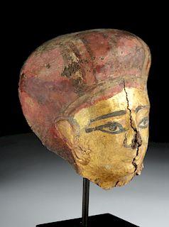 Romano-Egyptian Gilded Cartonnage Mask