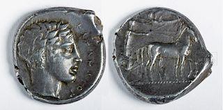 Silver Tetradrachm From Sicily - Katana
