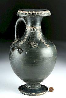 Greek Gnathian Hydria w/ Floral Decoration - TL Tested