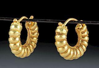 Ancient Greek 20K Gold Earrings, ex-Christie's (pr)