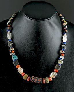Roman, Phoenician, & Greco-Egyptian Glass Bead Necklace