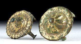 Roman Gilt Bronze Domed Phalera (pair)