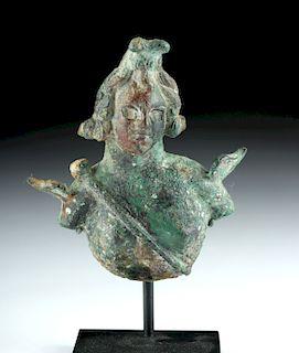 Roman Imperial Bronze Applique - Female Bust