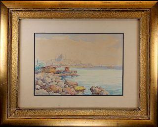 "Attr. Paul Signac (1863 - 1935) ""Marseilles 1920"""