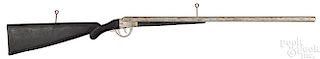 Painted wood double barrel shotgun trade sign