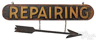 Pine Repairing trade sign