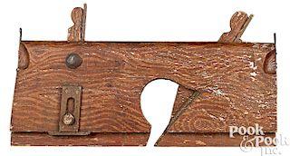 Wood molding plane carpenter trade sign