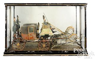 English horse drawn royal carriage model