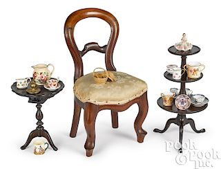 Doll size furniture and accessories