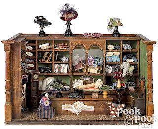 German dressmaker and milliners shop room box