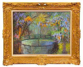* Albert Malet, (French, 1902-1986), Jardin de Monet, Giverny