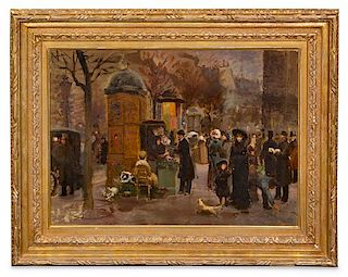 Artist Unknown, (20th Century), Paris Street Scene