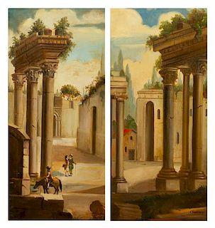 Antoni Kozakiewicz, (Polish, 1841-1929), Untitled, Orientalist Scene (a pair of works)