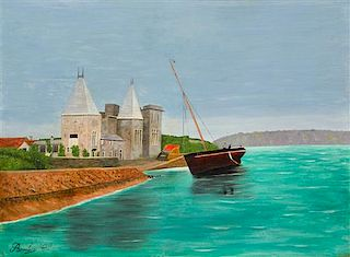 Camille Bombois, (French, 1883-1970), Sailboats