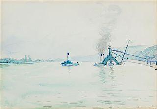* Albert Marquet, (French, 1875-1947), Drague sur la Seine, 1928