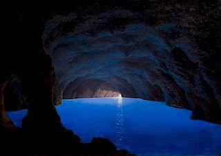 * Johann Carl Neumann, (Danish, 1833-1891), Blue Grotto, Capri, 1865