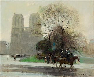 Jules-René Hervé, (French, 1887-1981), Paris, Notre Dame