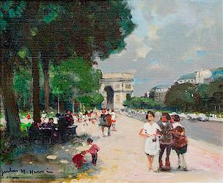 Jules-René Hervé, (French, 1887-1981), Untitled (Arc de Triomphe)