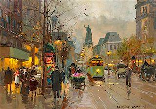 * Édouard Léon Cortès, (French, 1882-1969), Place de la République