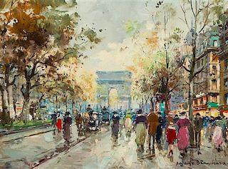 Antoine Blanchard, (French, 1910-1988), Arc de Triomphe, Paris