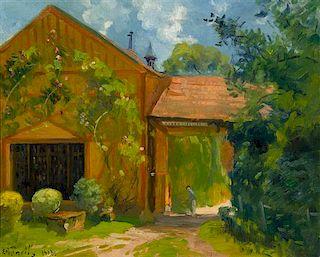 Élie-Anatole Pavil, (Russian/French, 1873-1948), Garden Scene, 1938
