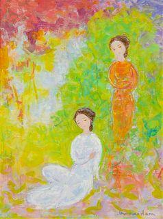 * Vu Cao Dàm, (Vietnamese, 1908-2000), Jeune Filles