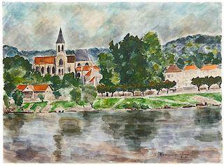 André Dunoyer de Segonzac, (French, 1884-1974), Seine sur la Triel, 1960