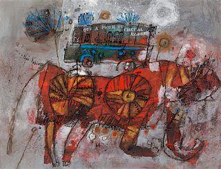 Théo Tobiasse, (French, 1927–2012), Qui a peur du cheval rouge, 1964