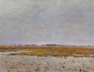 Richard Lorenz, (American, 1858-1915), Coming Off the Desert