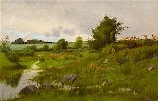 Charles Harry (Henry) Eaton, (American, 1850-1901), Untitled (Verdant Landscape)