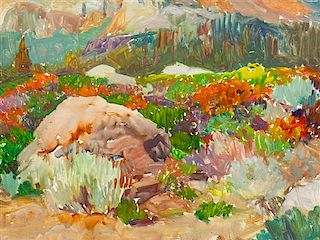 Frank Tenney Johnson, (American, 1874-1939), Colorful Underbrush