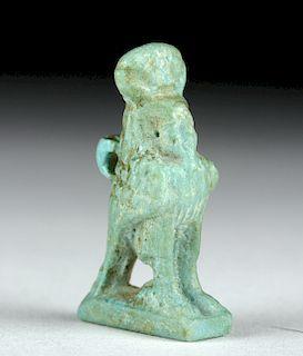 Fine Egyptian Faience Horus Amulet