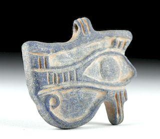 Rare Egyptian Lapis Lazuli Wedjat Eye Amulet