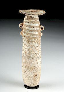 Greek Core Formed Glass Alabastron, ex-Bonhams